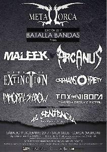6 bandas procedentes de toda España se darán cita el sábado en la Sala Silos con el objetivo de ganar la 4ª edición de la Batalla de Bandas ''Metal Lorca 2017''