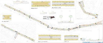 La modernización del eje Príncipe Alfonso-Puente la Alberca tendrá al peatón como protagonista, con la construcción de aceras más anchas y la instalación de nuevo mobiliario urbano