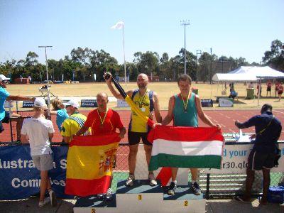 El lorquino Mateo Ruiz consigue la medalla de bronce en la modalidad de lanzamiento de jabalina en XVII Edición del World Transplant Games, celebrados en Australia