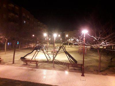 El Ayuntamiento mejora la iluminación del Parque de La Verdad de San Cristóbal deteriorada por actos vandálicos