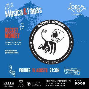 La ''Rocket Monkey, Live Music Band'' será la protagonista, este próximo viernes, 16 de agosto, de la actividad ''Música & Tapas'' en el castillo de Lorca