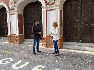 El Ayuntamiento de Lorca acomete trabajos para acabar con las humedades que afectan al edificio del Teatro Guerra