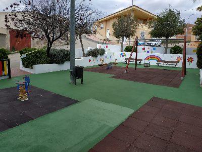 Finalizados los trabajos de mejora y mantenimiento que han permitido la renovación integral del parque infantil de la pedanía de La Parroquia