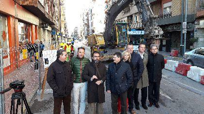 La avenida Juan Carlos I de Lorca comienza su transformación integral con la aportación de 5 millones de la Comunidad