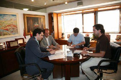 Jódar firma un convenio con los colegios de arquitectos e ingenieros técnicos industriales para el registro telemático de proyectos en la Gerencia de Urbanismo de Lorca