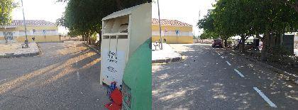 El Ayuntamiento renueva la señalización horizontal en las inmediaciones del Local Social de Torrecilla