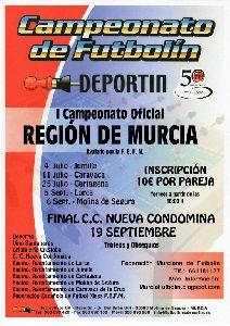 La cuarta ronda del I Campeonato de Futbolín se disputará el próximo sábado en la Feria de la Virgen de las Huertas