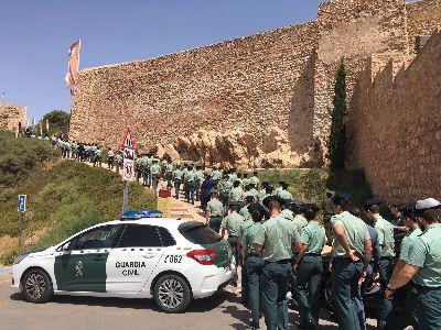 La Fortaleza del Sol recibe la visita de 106 alféreces de la Academia Especial de la Guardia Civil de Aranjuez