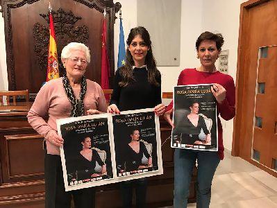 El Teatro Guerra acogerá este sábado un concierto solidario a cargo de la artista lorquina Rosa María Luján a favor de la Asociación Lorquina de Enfermos de Parkinson