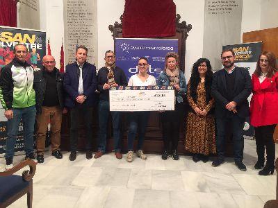 La VII San Silvestre ''Ciudad de Lorca'' logra recaudar 4.318 euros, para el #retoyosípuedo a beneficio de Astrade