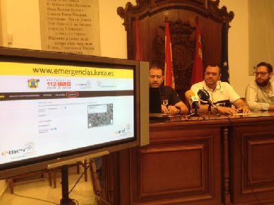 La Concejalía de Emergencias del Ayuntamiento de Lorca pone en marcha su página web para prevenir incidencias