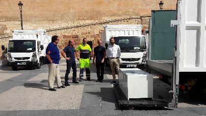 La incorporación de 4 nuevos vehículos permitirá a Limusa mejorar la limpieza viaria, el mantenimiento de contenedores y la retirada de residuos