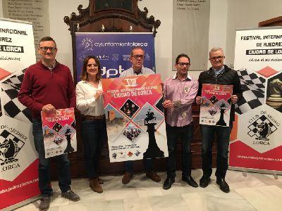 Alrededor de 280 participantes se darán cita en el, ya consolidado, ''VIII Festival Internacional de Ajedrez Ciudad de Lorca 2019'' que se celebrará del 26 al 30 de diciembre