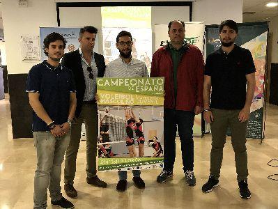 Lorca será sede del 26 al 30 de abril de la LVII edición del Campeonato de España de Voleibol masculino en categoría juvenil que reunirá en la pista a más de 300 deportistas