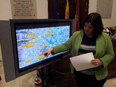 El Ayuntamiento de Lorca instala 120 proyectores para reforzar el alumbrado y siete carpas para la asistencia a los Pasos de Semana Santa