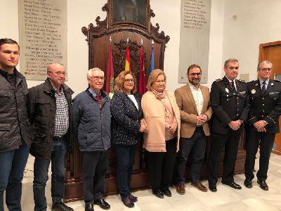 La Policía Local y el Cuerpo Nacional de Policía compartirán la custodia de la Virgen de las Huertas en los actos en los que la imagen participe y que se celebren fuera del santuario patronal