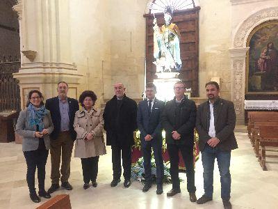 El trono del Patrón San Clemente estrenará en la procesión del próximo sábado nueva iluminación led de última generación