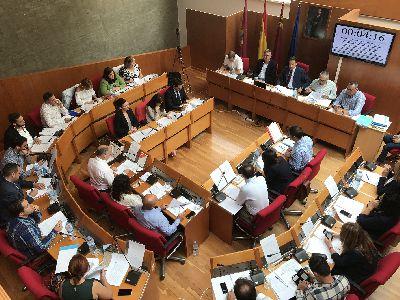 El Pleno Municipal aprueba por unanimidad una moción rechazando la creación de los Juzgados Uniprovinciales sobre cláusulas suelo y reclamación de gastos hipotecarios en Murcia