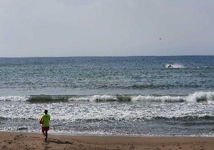 El Plan de Vigilancia y Rescate en las playas de Lorca cierra el mes de julio con medio centenar de intervenciones