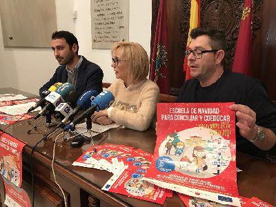 El Ayuntamiento de Lorca ofrece unas Escuelas Coeducativas de Navidad para escolares, con ayudas a los progenitores que concilien la vida laboral y familiar estas vacaciones