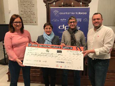 La VI San Silvestre ''Ciudad de Lorca'' recauda 3.420 euros para el proyecto #Pasitos del Reto Yo Sí Puedo a favor de D´Genes