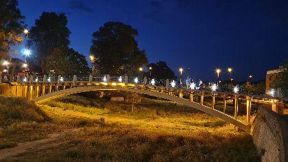 El Ayuntamiento de Lorca renueva la iluminación del Puente de La Torta deteriorada por actos vandálicos