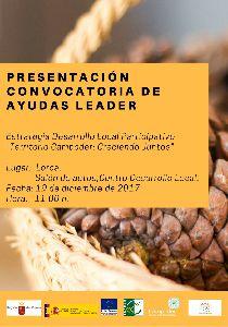 El Centro de Desarrollo Local acoge el martes la presentación de la convocatoria de ayudas LEADER del Programa de Desarrollo Rural de la Región de Murcia 2014 - 2020