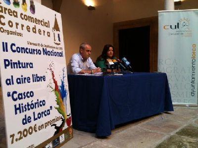 El II Concurso Nacional de Pintura al aire libre ''Casco Histórico de Lorca'' aumenta los premios en 2.600 ? con respecto a su primera edición