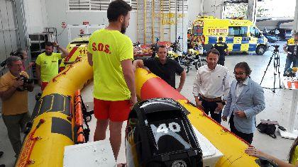 El Servicio Municipal de Emergencias incorpora una nueva embarcación de rescate dentro del Plan Copla 2018 activado en la costa lorquina