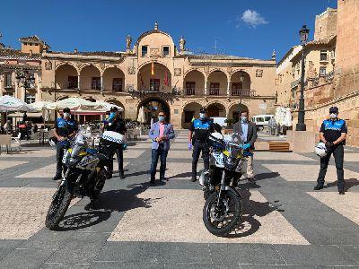 La Policía Local amplía su parque de vehículos con dos nuevas motocicletas para seguir incrementando la versatilidad