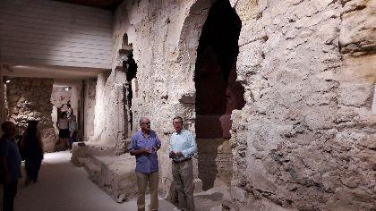 El Ayuntamiento y el Santuario Patronal acuerdan abrir a las visitas guiadas el templo de la Virgen de las Huertas, incluyendo los restos del palacio califal