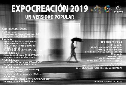 El Centro Cultural y el Teatro Guerra acogen exposiciones de pintura y artesanía, muestras de teatro y festivales de danza enmarcadas dentro de ''Expocreación 2019''