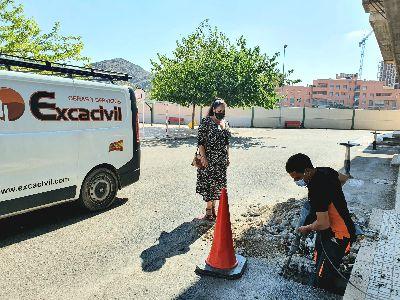 El Ayuntamiento de Lorca invierte 20.000 euros en obras de adecuación de los colegios del municipio este verano