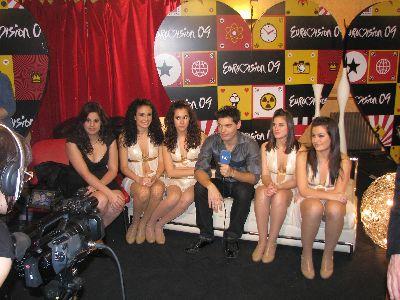 Las cuatro bailarinas lorquinas del ballet de Mª Teresa Lazareno se clasifican para la gran final de la elección del candidato a Eurovisión 2009