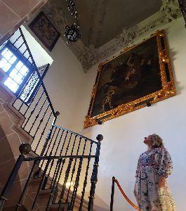 Abierta al público la estancia que comunica la planta baja del Palacio de Guevara con el segundo piso, lugar en el que se encontraban las dependencias privadas de la Condesa