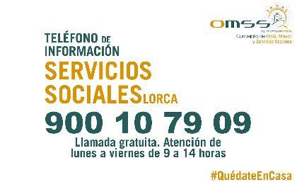 Servicios Sociales habilita un teléfono gratuito para atender las necesidades generadas por la crisis sanitaria