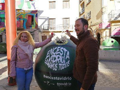 Lorca quiere ser el municipio ganador de la campaña regional ''Encesta vidrio, ganamos todos'' de Ecovidrio que fomenta el reciclaje a través del deporte