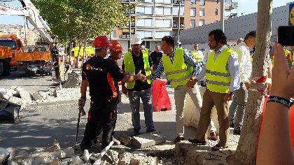 El Alcalde, Fulgencio Gil, asegura que ''Lorca no se para: 3,2 millones mejorarán Alameda de Cervantes, acabando con las inundaciones en El Gato e incorporando un carril bici''