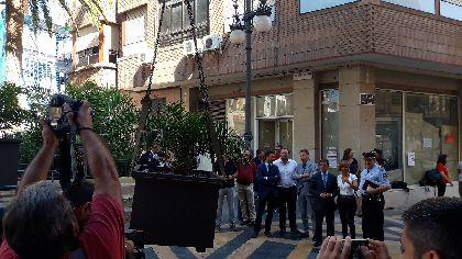 El plan de seguridad para la Feria de Lorca incorpora medio centenar de elementos de mobiliario urbano para bloquear el hipotético acceso de vehículos a zonas peatonales
