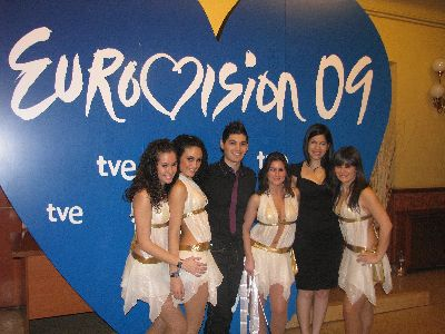 4 bailarinas lorquinas participarán en la fase final de la elección del artista que representará a España en Eurovisión 2009