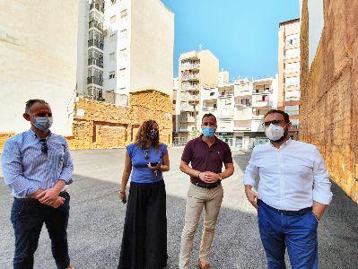 El Ayuntamiento de Lorca acondiciona un céntrico solar para la creación de 24 nuevas plazas de aparcamiento