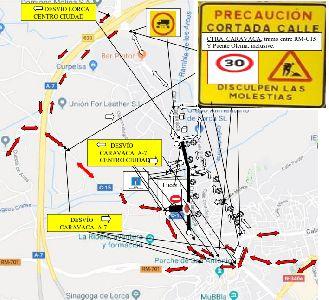Medidas especiales de circulación entre la Carretera Vieja del Pantano y la de Caravaca