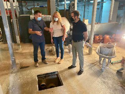El Ayuntamiento acomete trabajos para el saneamiento de los desperfectos de las filtraciones de agua en el Teatro Guerra