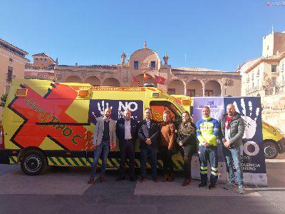 Ayuntamiento y Ambulancias de Lorca se unen para llevar a cabo una campaña de sensibilización que pueda prevenir situaciones de violencia contra las mujeres