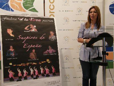 Los seis finalistas de la primera edición del programa de televisión ?A tu Vera? reunirán a 6.000 personas en el Día del Mayor de la Feria de Lorca, con la Gala ?Suspiros de España?