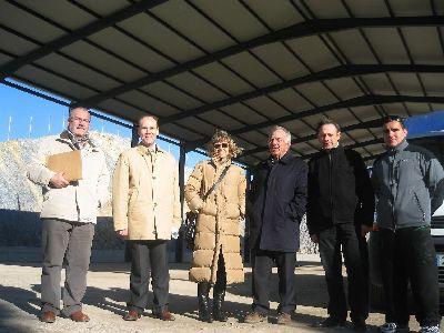Las obras de cubrición de la pista polideportiva del colegio Pérez de Hita, en el barrio de La Viña, alcanzan el 80% y estarán finalizadas a principios del mes de febrero