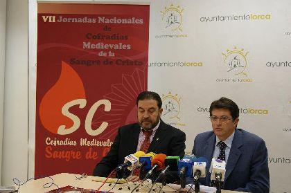 Lorca acogerá las VII Jornadas Nacionales de Cofradías Medievales de la Sangre de Cristo el 5 y 6 de marzo