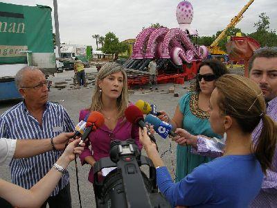 150.000 bombillas led y 95 atracciones feriales pondrán luz y color a la Feria de Lorca en el recinto del Huerto de la Rueda