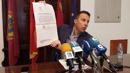 Casi 44.000 lorquinos se benefician de una reducción del 50% en el IBI por tercer año consecutivo en 2016 y el Alcalde solicita la revisión de los valores catastrales para 2017