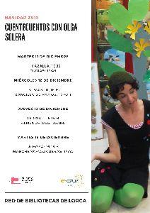 Las bibliotecas de pedanías acogerán 8 sesiones de cuentacuentos durante los próximos días protagonizadas por la actriz Olga Solera